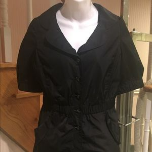 Black short sleeve light weight jacket NWOT